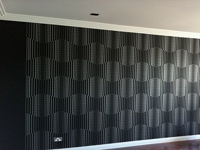 Some very funky wallpapering.